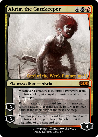 Card of the Week Contest Hall of Fame   Magic Set Editor Planeswalker Rules